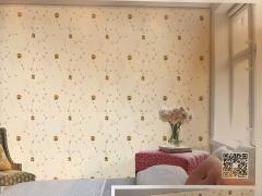 高档绣花无缝墙布 CHYT01-09 米白