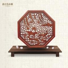 良伟仿古木雕仿古精致木雕挂件 中式木雕挂件A-307 棕色