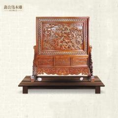 良伟仿古木雕仿古中式座雕挂件 家具雕花挂件G-105 棕色