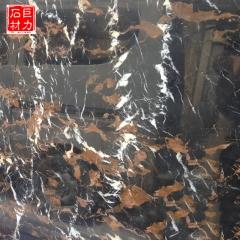 巨力石材阿富汗黑金花天然大理石 阿富汗黑金花