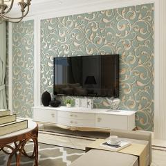 卧室壁纸现代简约时尚欧式书房客厅电视背景墙壁纸墙纸 米黄色