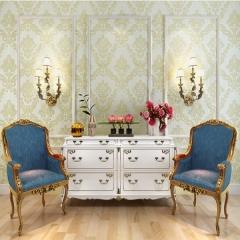 简约欧式无纺布壁纸 卧室客厅电视背景墙墙纸壁纸 米白色