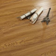 唐木条强化复合地板12mm家用卧室个性复古防水地暖仿实木地板SN918-柚木色 ㎡