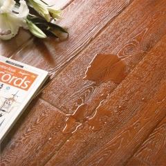 富贵鸟地板镂铣同步拉丝亚光面实木地板FGN969 ㎡