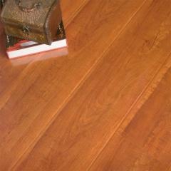 富贵鸟地板大模压亮面红铁木亮面实木地板FGN718 ㎡