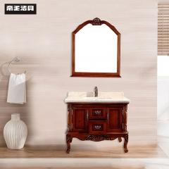 帝王洁具欧式实木落地柜洗脸池洗手台浴室柜组合柜JS1000 定金