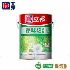 立邦漆 净味120竹炭五合一室内油漆涂料 白色内墙墙面漆乳胶漆 15L/桶