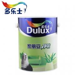 多乐士乳胶漆墙面漆家丽安净味内墙涂料油漆白色面漆 5L