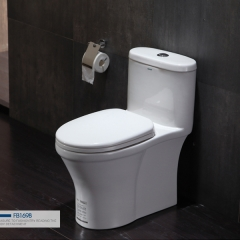 法恩莎卫浴小户型连体式全施釉马桶卫生间虹吸式坐便器FB1698 坑距305