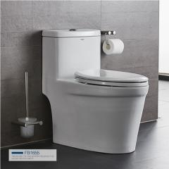 法恩莎卫浴 喷射虹吸式马桶家用卫生间抽水马桶品牌坐便器FB1655 坑距305