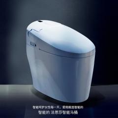法恩莎卫浴自动即热清洗烘干一体式虹吸式智能马桶坐便器FB16105B 坑距305