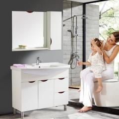 法恩莎现代简约落地式1米时尚浴室柜组合卫生间洗脸盆FPG3647-A