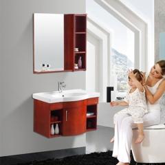 法恩莎 中式实木落地式浴室柜组合品牌卫浴柜洗脸盆FPGM3683A