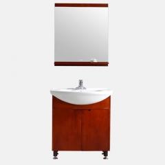 法恩莎浴室柜组合卫浴柜洗脸盆柜组合橡木实木落地柜FPGM3612B
