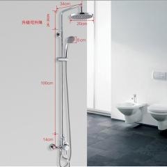 法恩莎花洒浴室套装淋浴器双龙头多功能挂墙式大花洒F2M8181SC