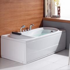 法恩莎浴缸成人亚克力家用浴盆独立式五件套卫浴洁具1.7米F1701SQ