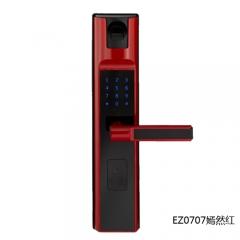 名门静音门锁指纹锁EZ0707嫣然红 EZ0707嫣然红