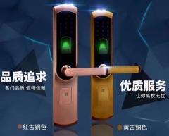 指纹密码锁EZ0606AC红古、EZ0606YB黄古、EZ0606BLP黑色 EZ0606YB黄古
