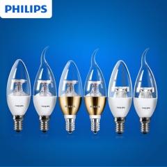 怡达照明  飞利浦LED尖泡E14螺口3.5W螺旋尖泡拉尾220V超亮蜡烛灯泡 定金