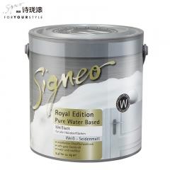 Signeo德国进口诗珑漆 皇家系列超级耐黄变水性木器漆涂料 W 2.5L 2.5L