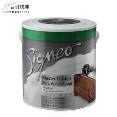 Signeo德国进口诗珑漆 大师系列透明水性木器漆涂料 T 2.5L 2.5L