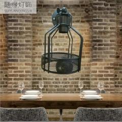 随缘灯饰  铁艺可调节高度工业风复古壁灯适合 4W
