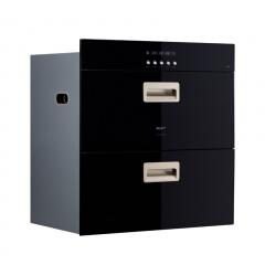 MQ名气 501消毒柜 黑晶钢化玻璃 紫外线&臭氧双重杀菌 消毒柜