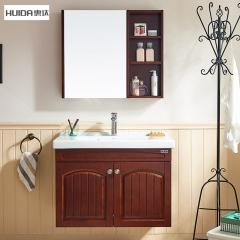 惠达卫浴家用小户型欧式实木储物浴室柜洗脸盆浴镜组合套装