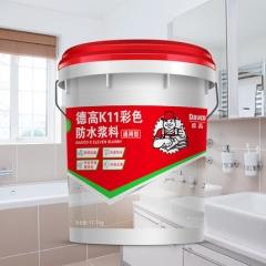 德高k11防水通用卫生间屋顶防水渗透型防水涂料 墙地面防水材料 17.7kg
