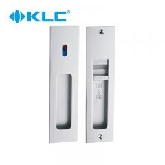 昊源五金KLC 太空铝简约移门锁 厨房卫生间阳台推拉门锁把手钩锁 黑色 图片色