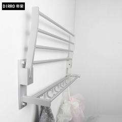 帝荣洁具太空铝活动浴巾架卫生间洗手间浴室五金挂件