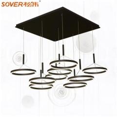 松伟照明 依云系列  吊灯客厅餐厅书房卧室灯LED个性吊灯 D-6*14W