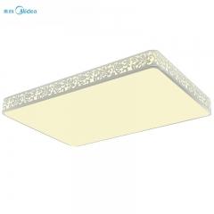 美的照明led吸顶灯现代简约LED客厅灯长方形卧室灯具大气调光调色繁花