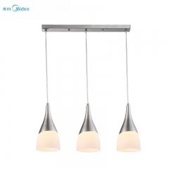 美的照明 led吊灯三头餐厅吊灯现代简约创意个性灯具灯饰 绮梦