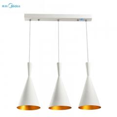 美的照明餐厅吊灯三头现代简约餐厅灯led灯具餐厅个性创意吊灯
