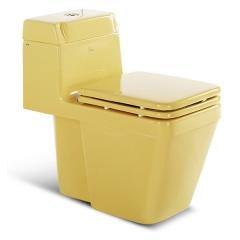 帝王洁具卡尼座便器连体式彩色马桶静音坐便器坐厕F9