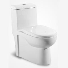 帝王洁具抽水马桶陶瓷家用小户型防臭坐便器静音节水座便器CT3001