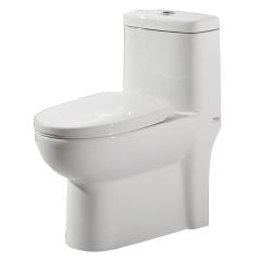 帝王洁具陶瓷坐便器虹吸式雪花釉马桶卫生间节水家用座便器CT3007
