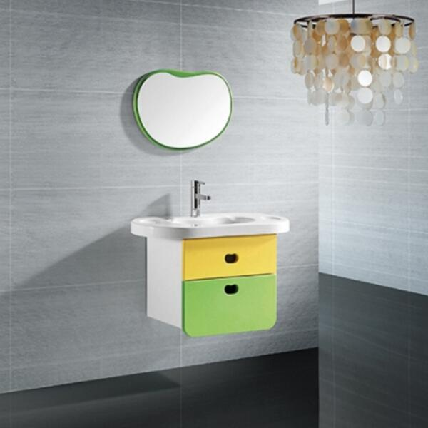 帝王洁具儿童彩色浴室柜亚克力大储存浴室柜AC310