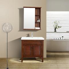 帝王洁具简欧式实木安赫浴室柜组合卫生间洗漱台卫浴面盆落地柜DS-CM0800