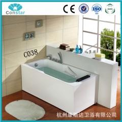 康斯达2016新款 C038冲浪按摩浴缸 亚克力 长方型双扶手 单人浴缸 定金