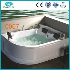 浴缸C007 五件套 普通浴缸 冲浪按摩浴缸 亚克力 左右双人浴缸 定金