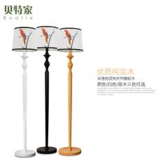 格调 现代简约客厅落地灯卧室沙发个性创意仿古新中式实木落地灯台灯BFL-PAR 原木色台灯