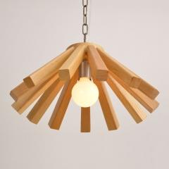 格调 创意个性实木吊灯D6006