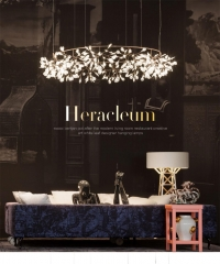 格调 后现代简约客厅餐厅萤火虫吊灯 北欧创意艺术叶子设计师吊灯 环形