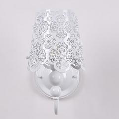 格调 不锈钢雕花单头双头壁灯BW1115 双头白色 白色双头