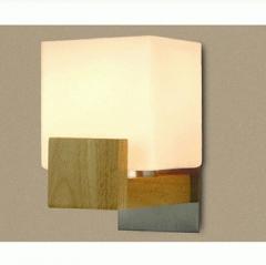 厅床头卧室过道阳台创意墙灯现代简约北欧宜家床头灯木壁灯BW-JY-902 搁板花纹(右)