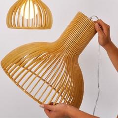 格调 现代简约吧台创意个性咖啡厅楼梯灯具北欧风格木餐厅灯 中号 中号