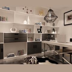 柜菲家居实木书柜 书柜 书架 组合书柜 客户自选 橡胶实木(柜体材质) 中空木塑百叶(柜门材质) 定