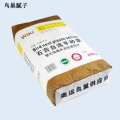 鸟巢腻子 石膏自流平砂浆 替代传统水泥砂浆找平 重量:20kg